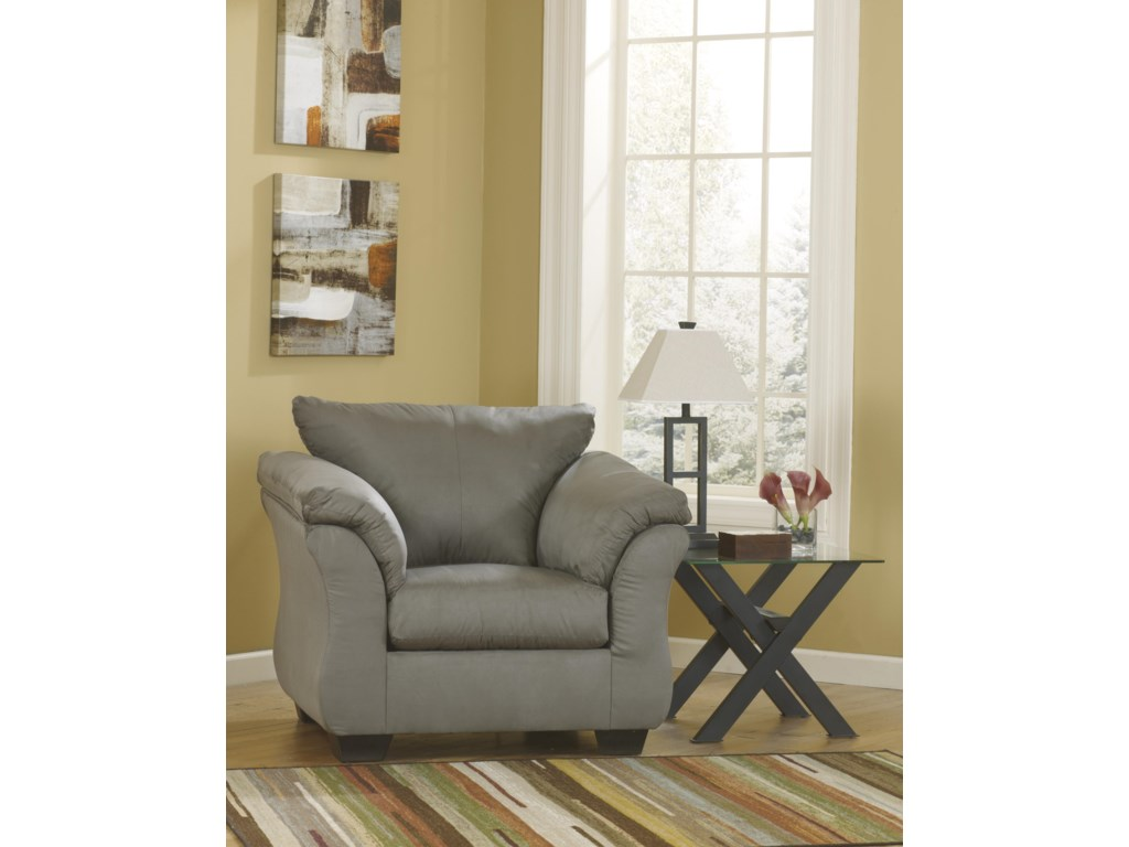 Signature Design by Ashley Darcy - CobblestoneUpholstered Chair and Ottoman