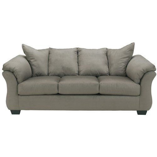 Signature Design by Ashley Darcy - Cobblestone Contemporary Full Sleeper with Flared Back Pillows