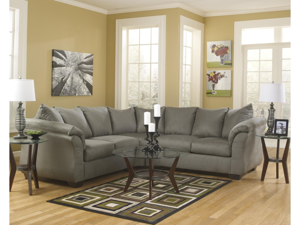 Signature Design by Ashley Darcy - CobblestoneSectional Sofa