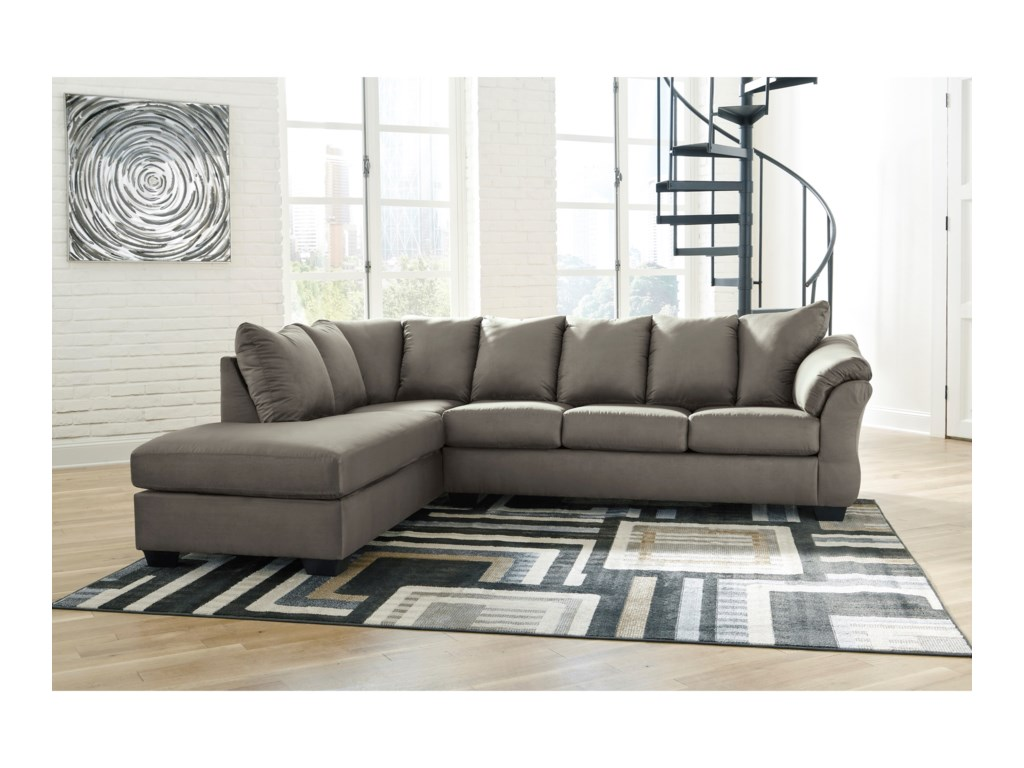Ashley (Signature Design) Darcy - Cobblestone2-Piece Sectional Sofa with Chaise