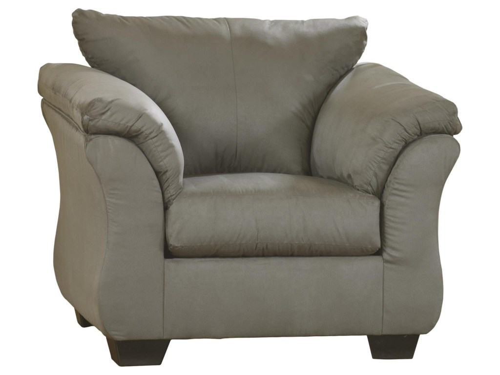 Signature Design by Ashley Darcy - Cobblestone2 PC Sectional and Chair Set