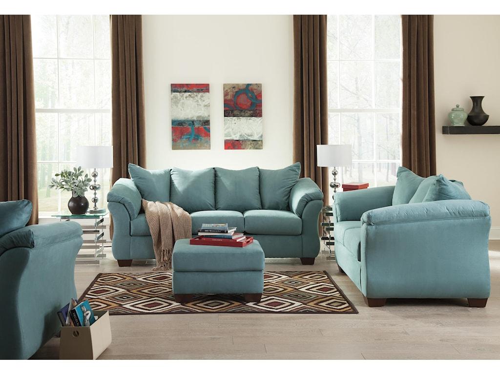 Ashley (Signature Design) Darcy - SkyStationary Living Room Group