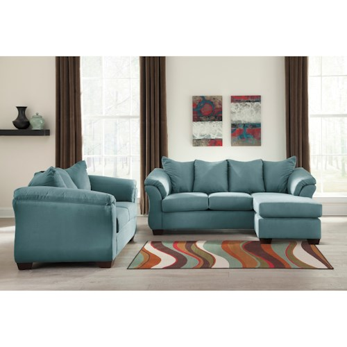 Signature Design by Ashley Darcy - Sky Stationary Living Room Group