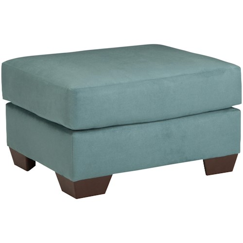 Signature Design by Ashley Darcy - Sky Contemporary Ottoman with Tapered Legs