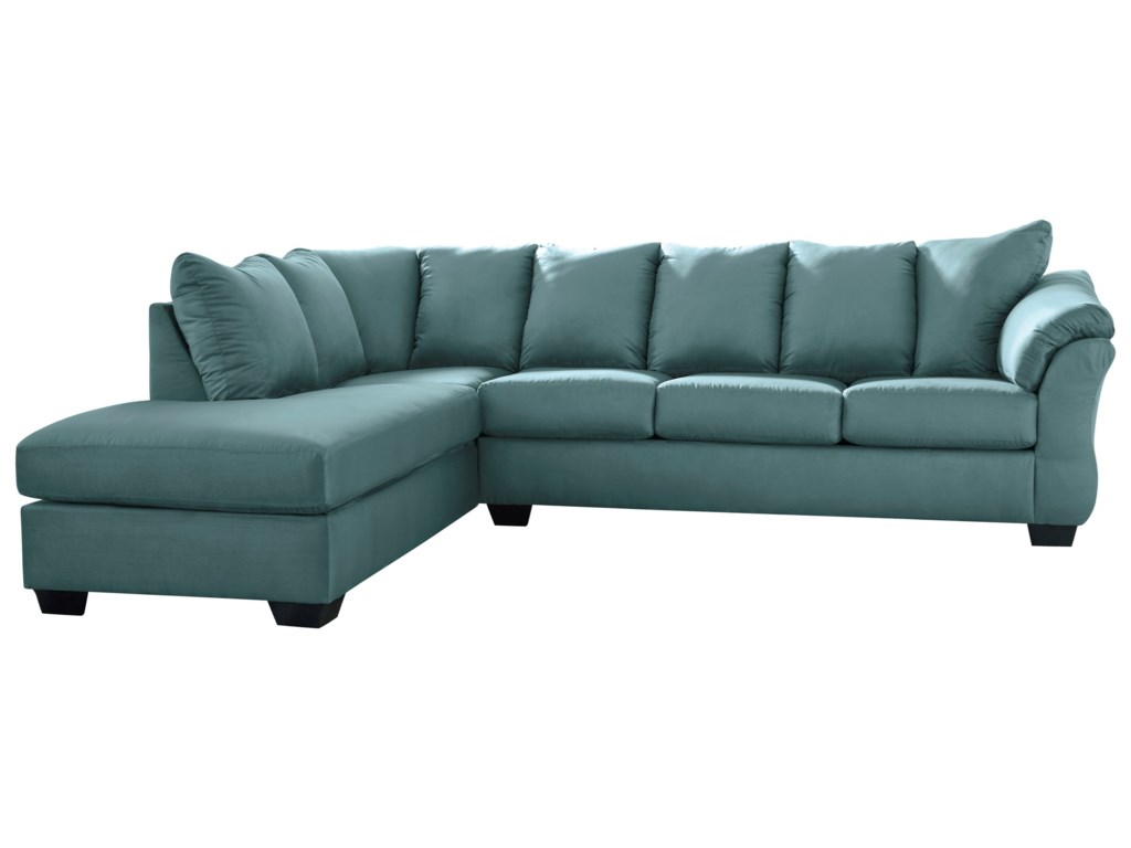 Ashley Signature Design Darcy - Sky Contemporary Sectional Sleeper ...