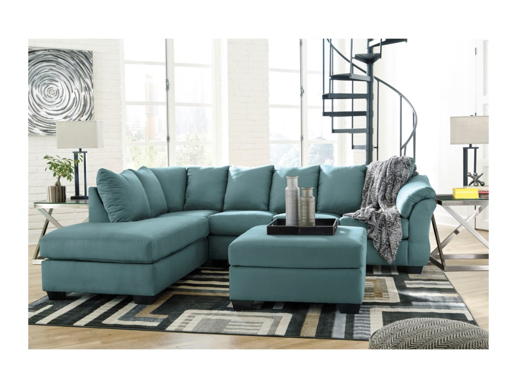 Signature Design by Ashley Darcy - SkySectional Sleeper Sofa with Chaise