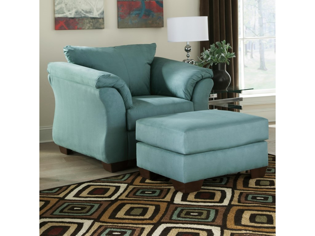 Signature Design by Ashley Darcy - SkyUpholstered Chair and Ottoman