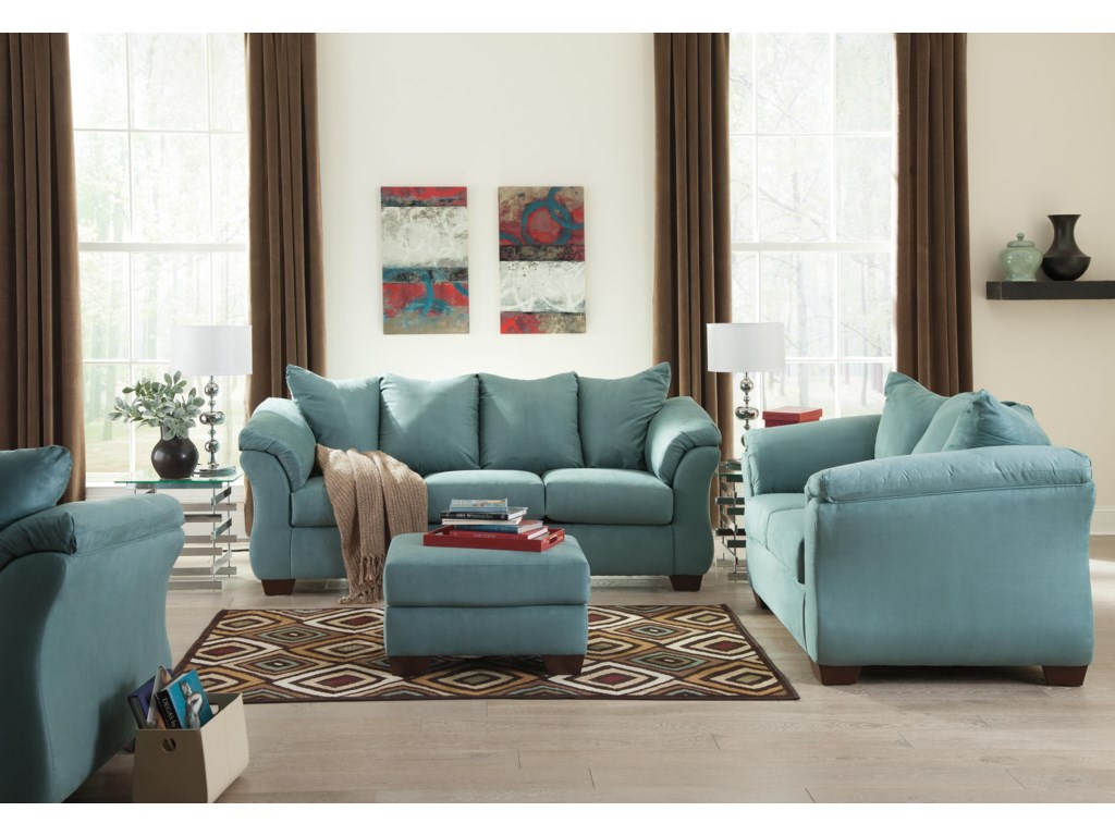 Ashley (Signature Design) Darcy - SkyStationary Loveseat
