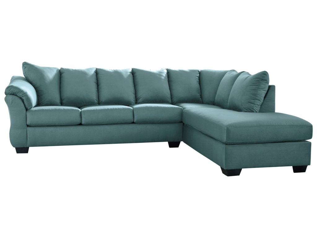 Ashley (Signature Design) Darcy - Sky2-Piece Sectional Sofa