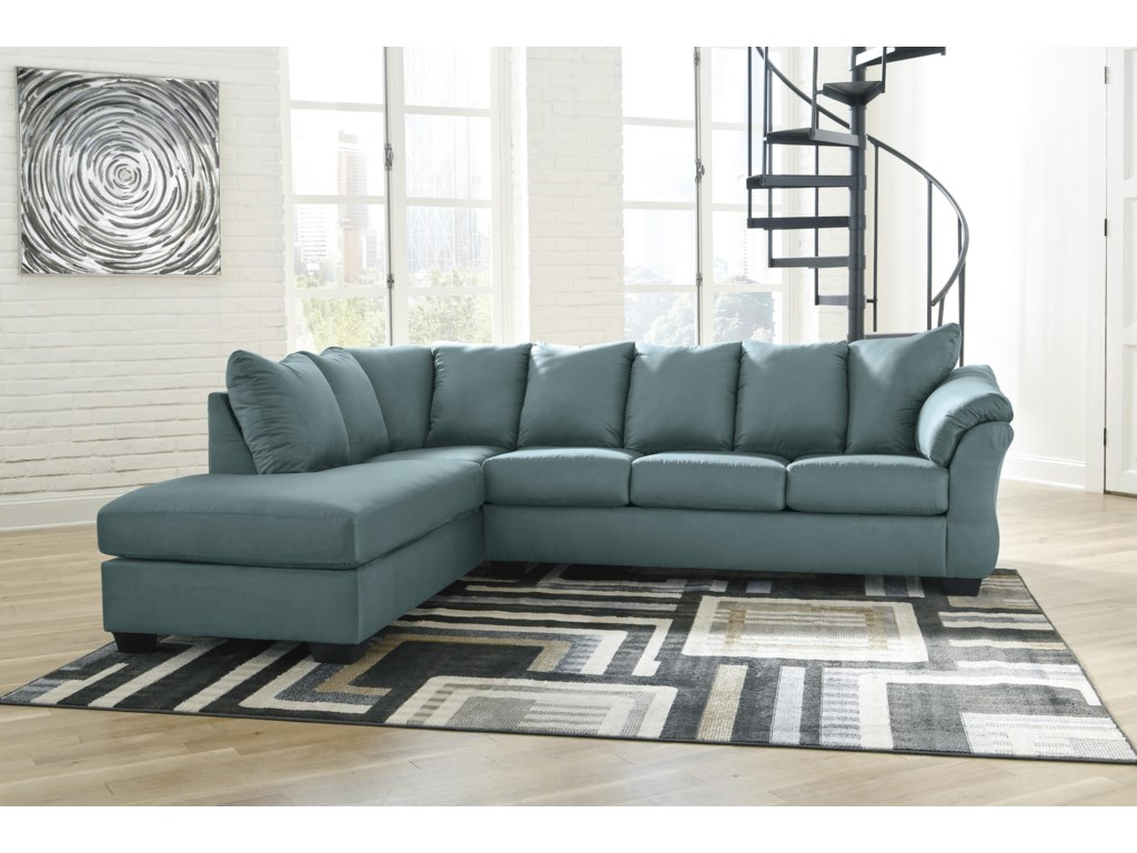Signature Design by Ashley Darcy - Sky2 PC Sectional, Chair and Ottoman Set