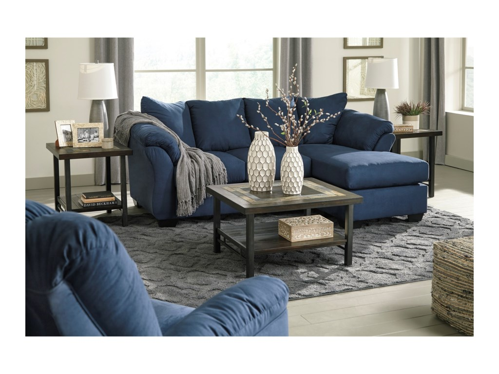 Signature Design by Ashley Darcy - BlueStationary Living Room Group