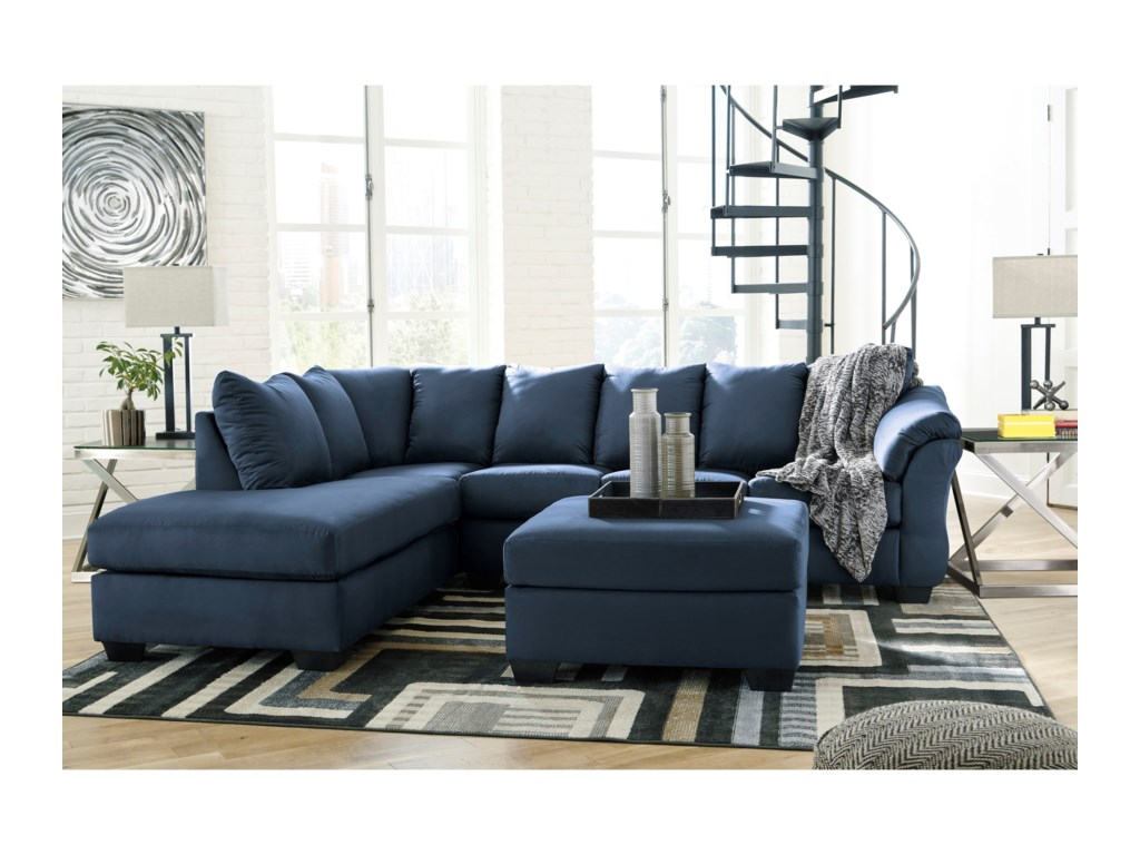 Signature Design by Ashley Darcy - BlueOversized Accent Ottoman
