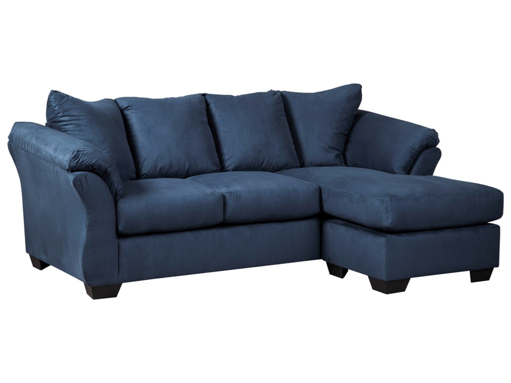 Signature Design by Ashley Darcy - Blue Contemporary Sofa Chaise ...