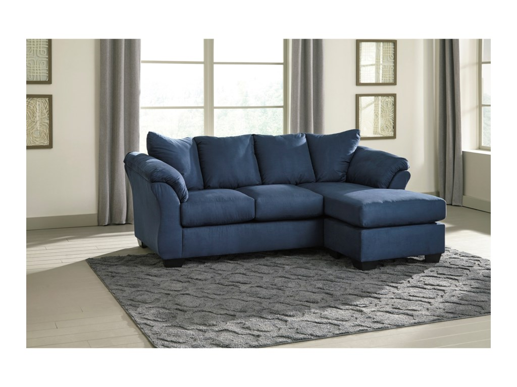Whitman - Blue Sofa Chaise