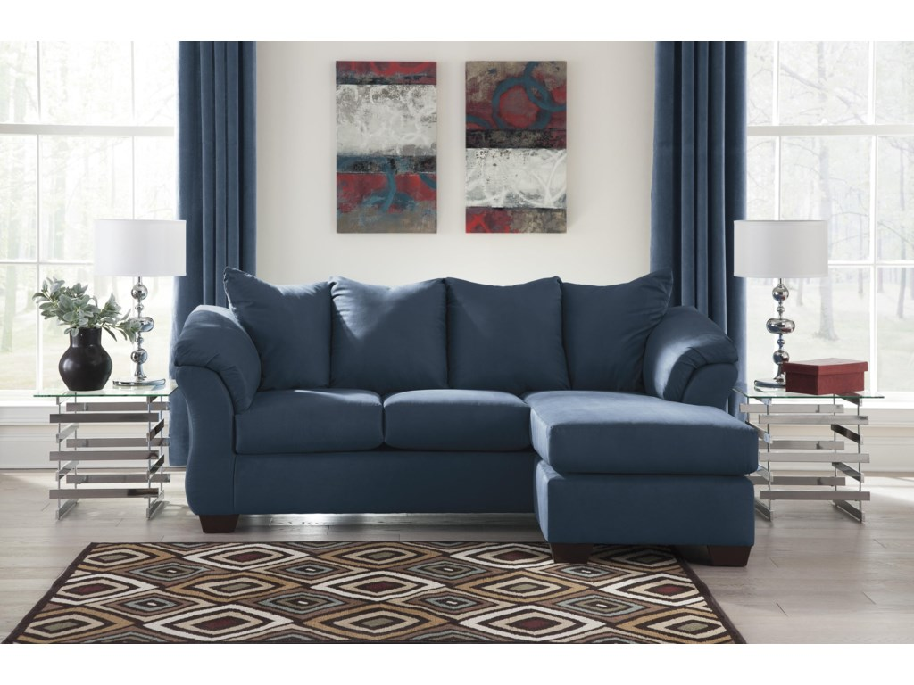 Signature Design by Ashley Darcy - BlueChaise Sofa and Chair Set