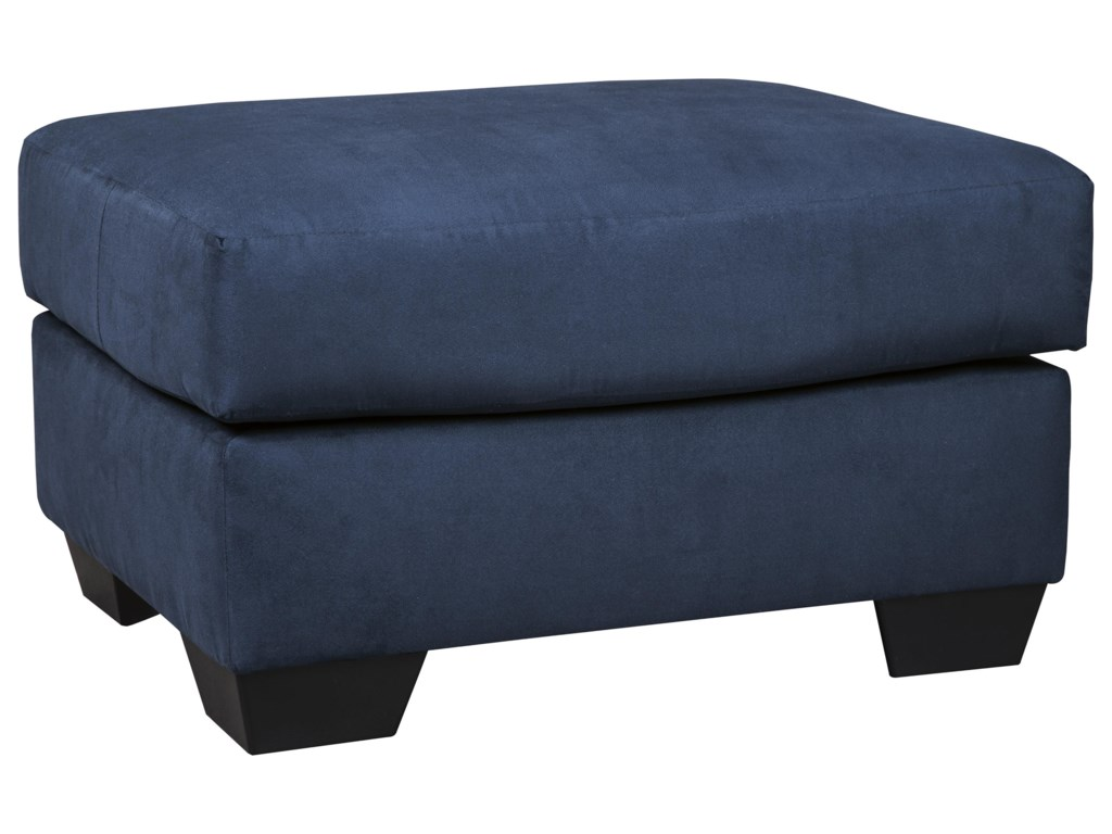 Signature Design by Ashley Darcy - BlueChaise Sofa, Loveseat and Ottoman Set