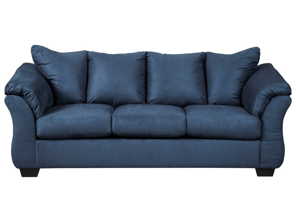 Darcy - Blue Contemporary Full Sleeper with Flared Back Pillows by  Signature Design by Ashley at Household Furniture