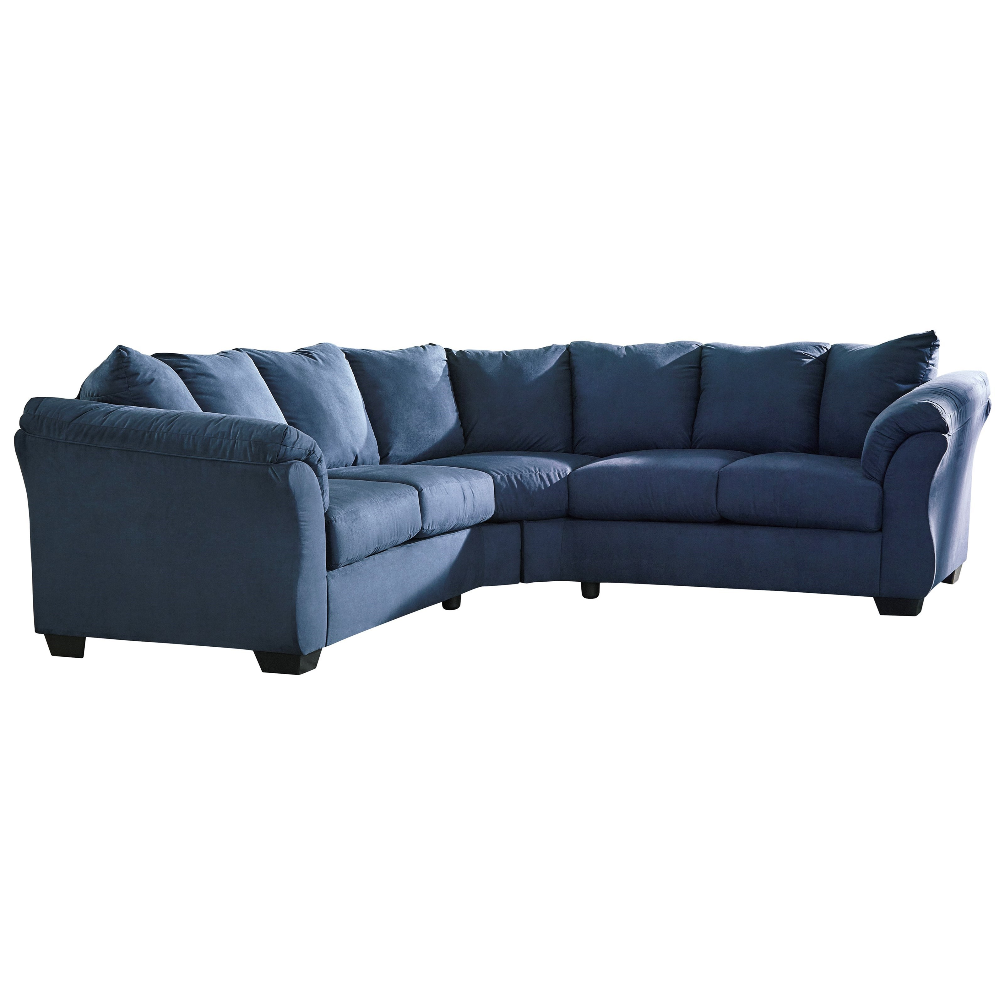 Superb Signature Design By Ashley Darcy   BlueSectional Sofa ...