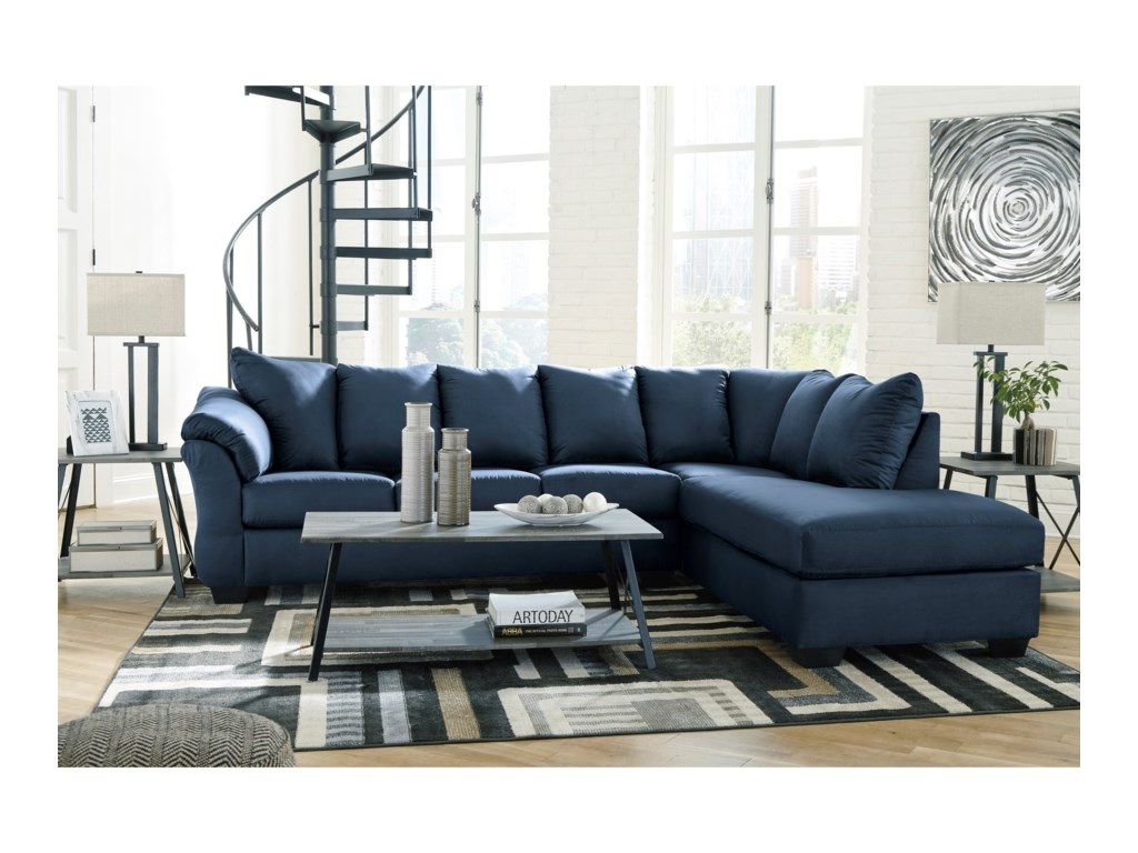 Signature Design by Ashley Darcy - BlueSectional Sofa