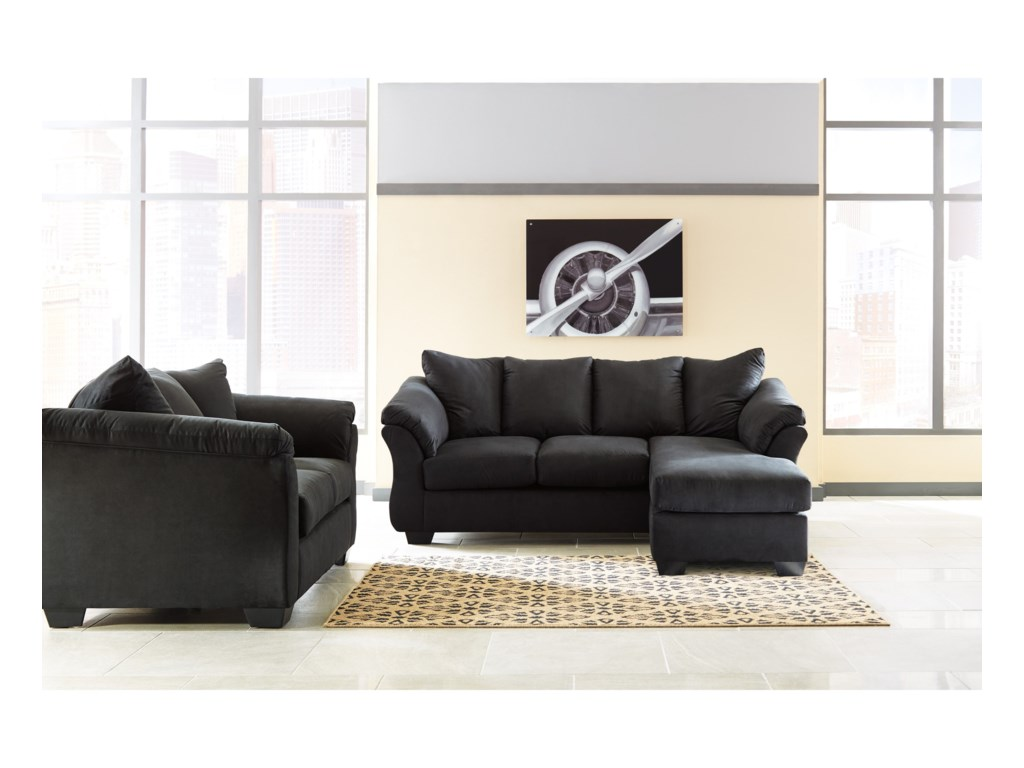 Ashley (Signature Design) Darcy - BlackStationary Living Room Group