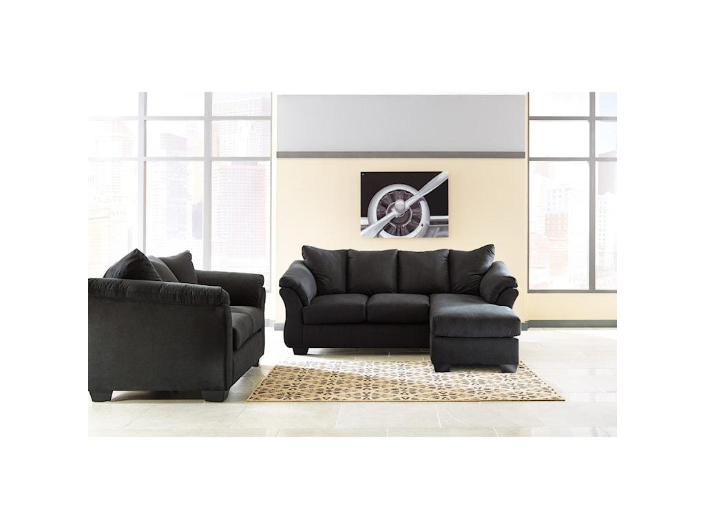 Signature Design by Ashley Darcy - BlackStationary Living Room Group