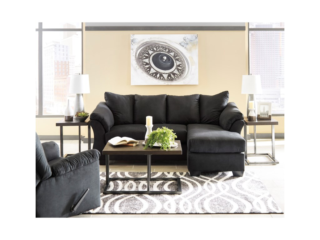Signature Design by Ashley Darcy - BlackStationary Living Room Group
