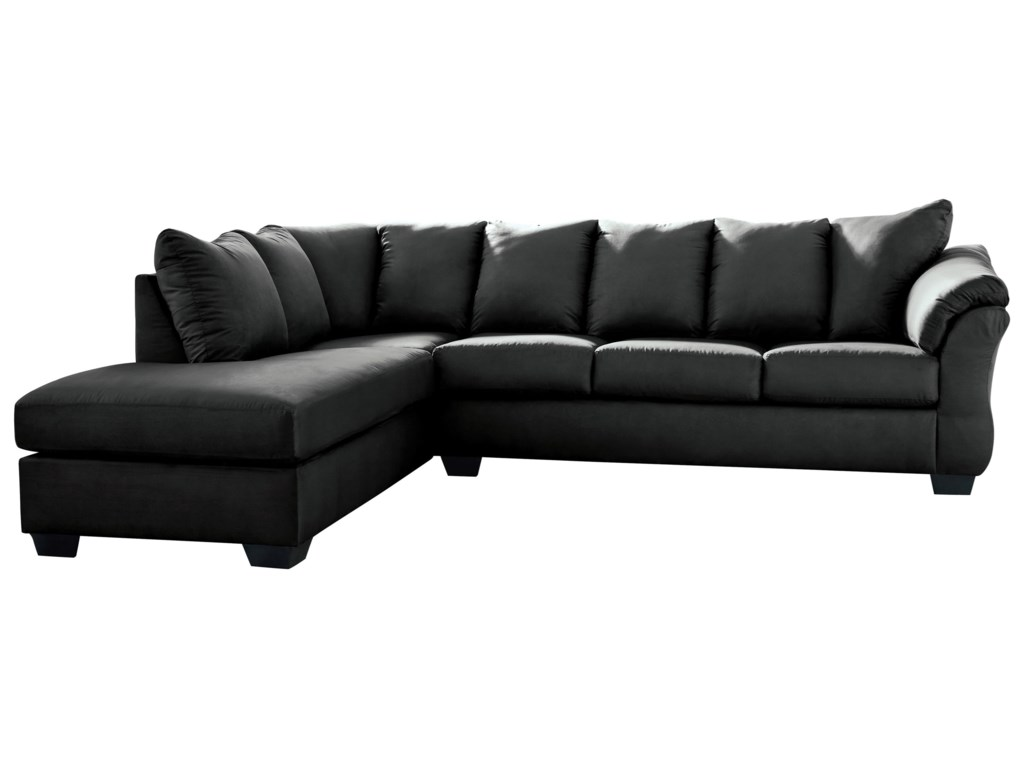 Darcy - Black Contemporary Sectional Sleeper Sofa with Left Chaise by  Signature Design by Ashley at Furniture Superstore - Rochester, MN