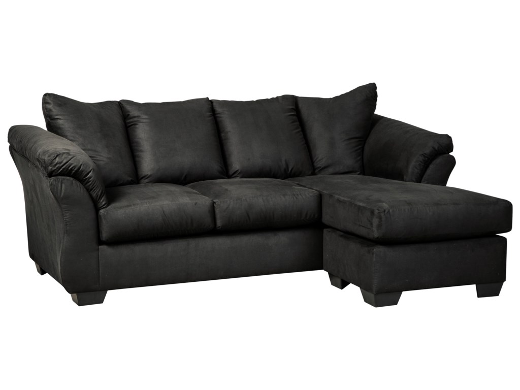 Darcy - Black Contemporary Sofa Chaise with Flared Back Pillows by  Signature Design by Ashley at Household Furniture