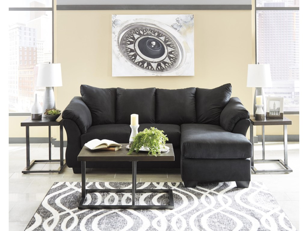 Signature Design by Ashley Darcy - BlackChaise Sofa and Chair Set