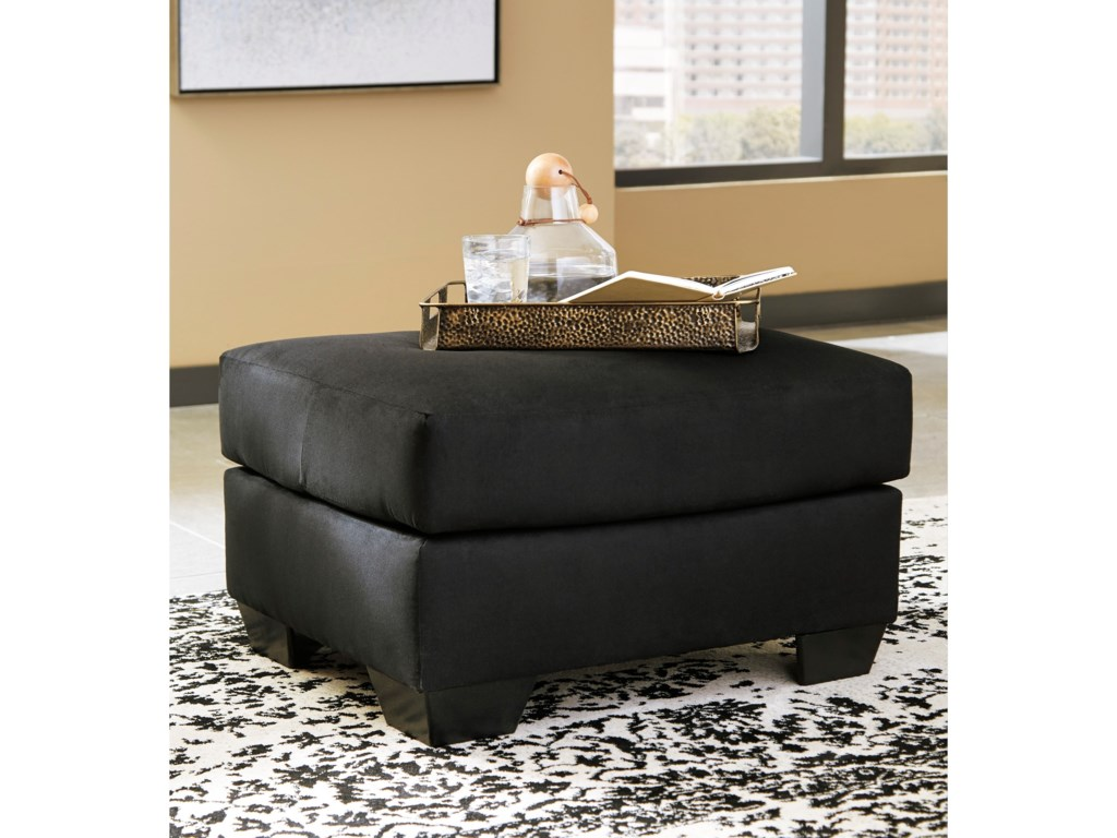 Signature Design by Ashley Darcy - BlackUpholstered Chair and Ottoman