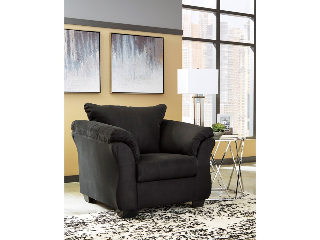 Signature Design by Ashley Darcy - BlackUpholstered Chair