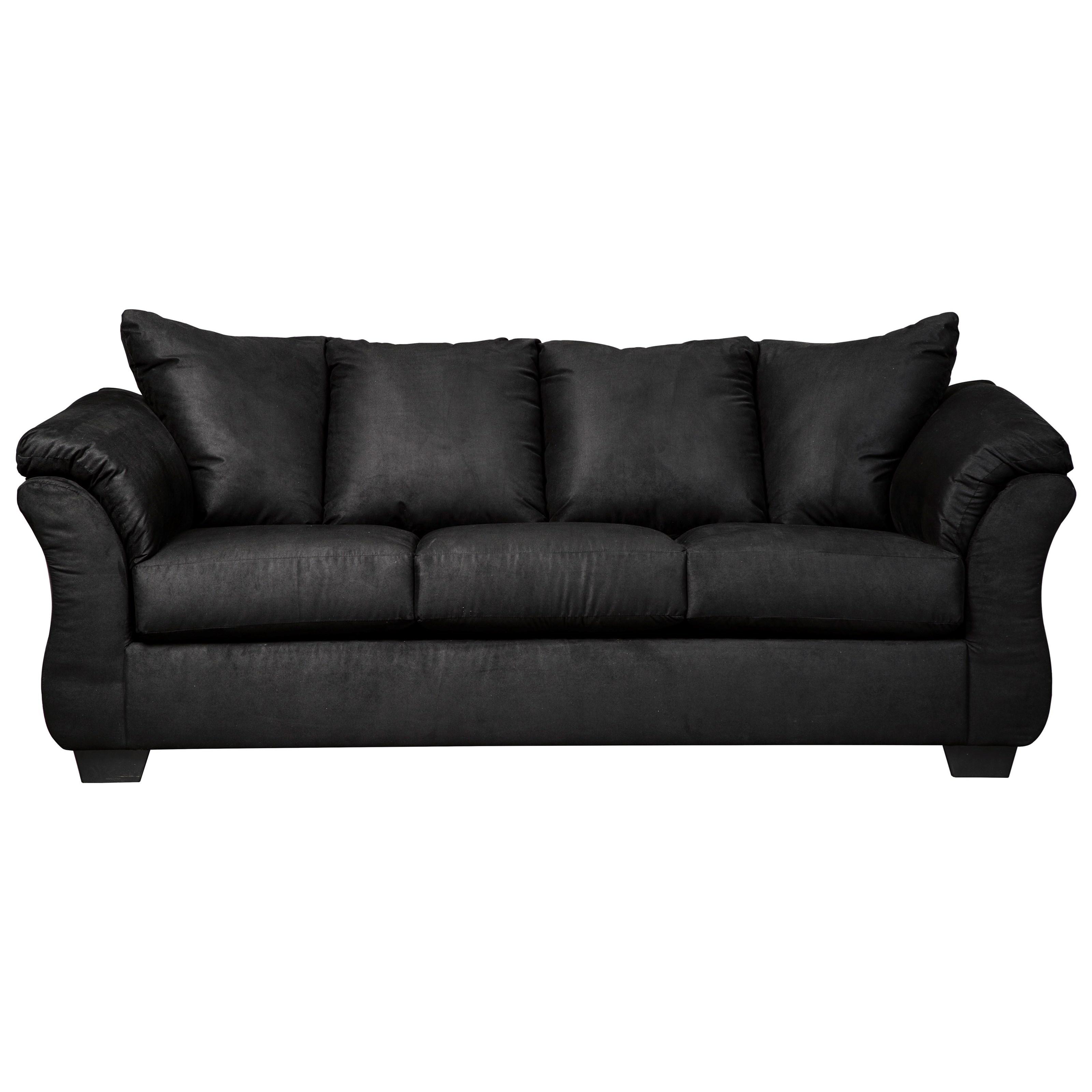 Signature Design Darcy   BlackStationary Sofa ...