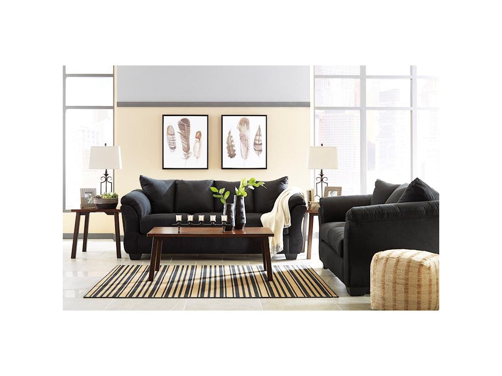 Signature Design by Ashley Darcy - BlackStationary Sofa