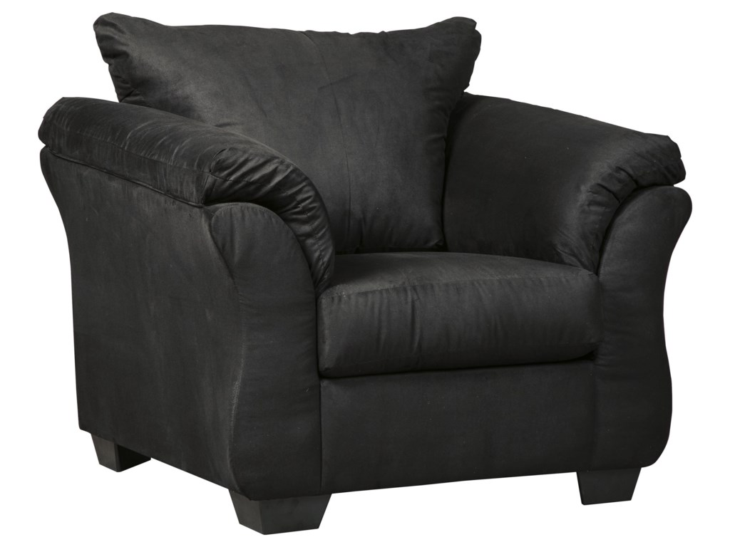 Darcy Black Sofa Chair And Recliner Set