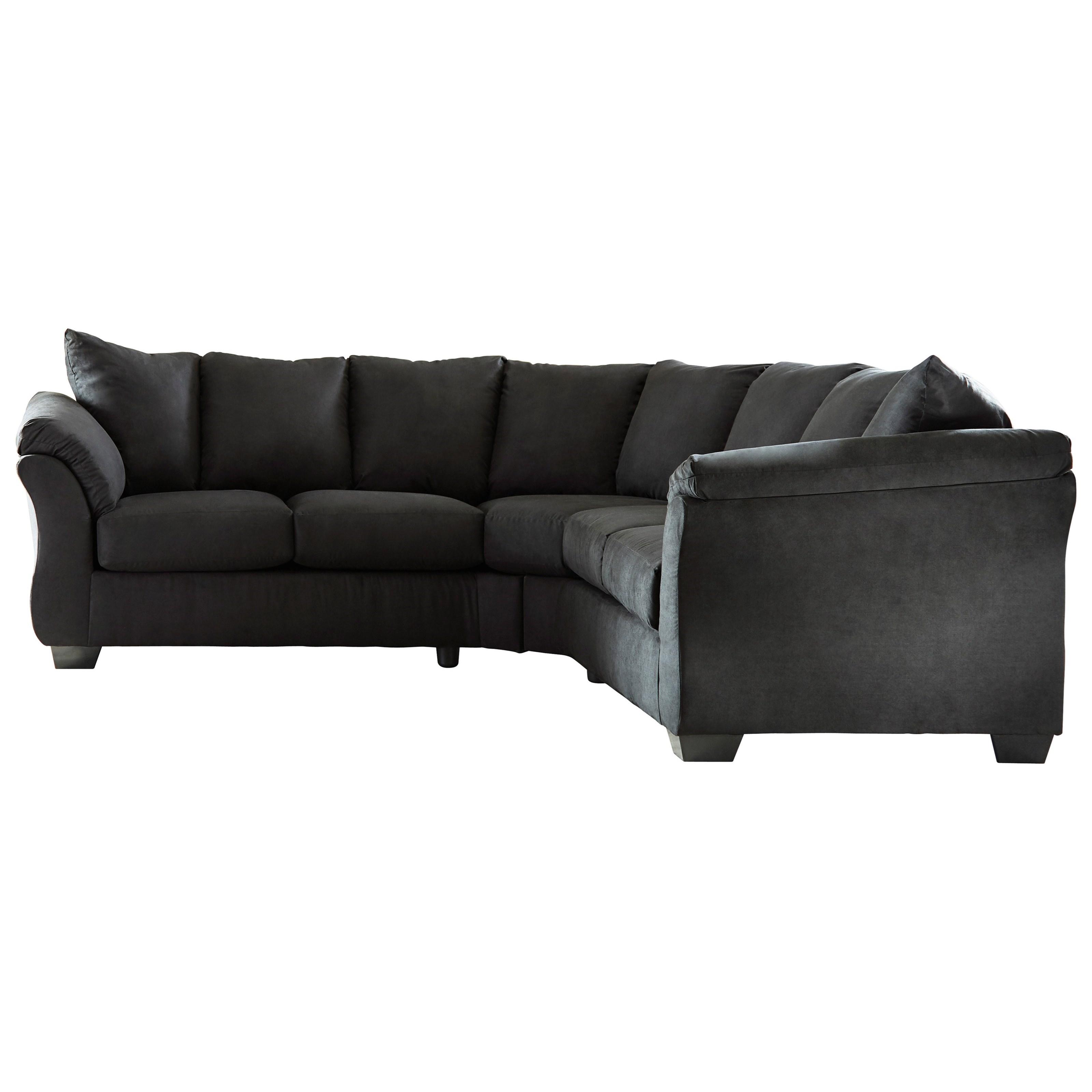 Merveilleux Signature Design By Ashley Darcy   BlackSectional Sofa ...