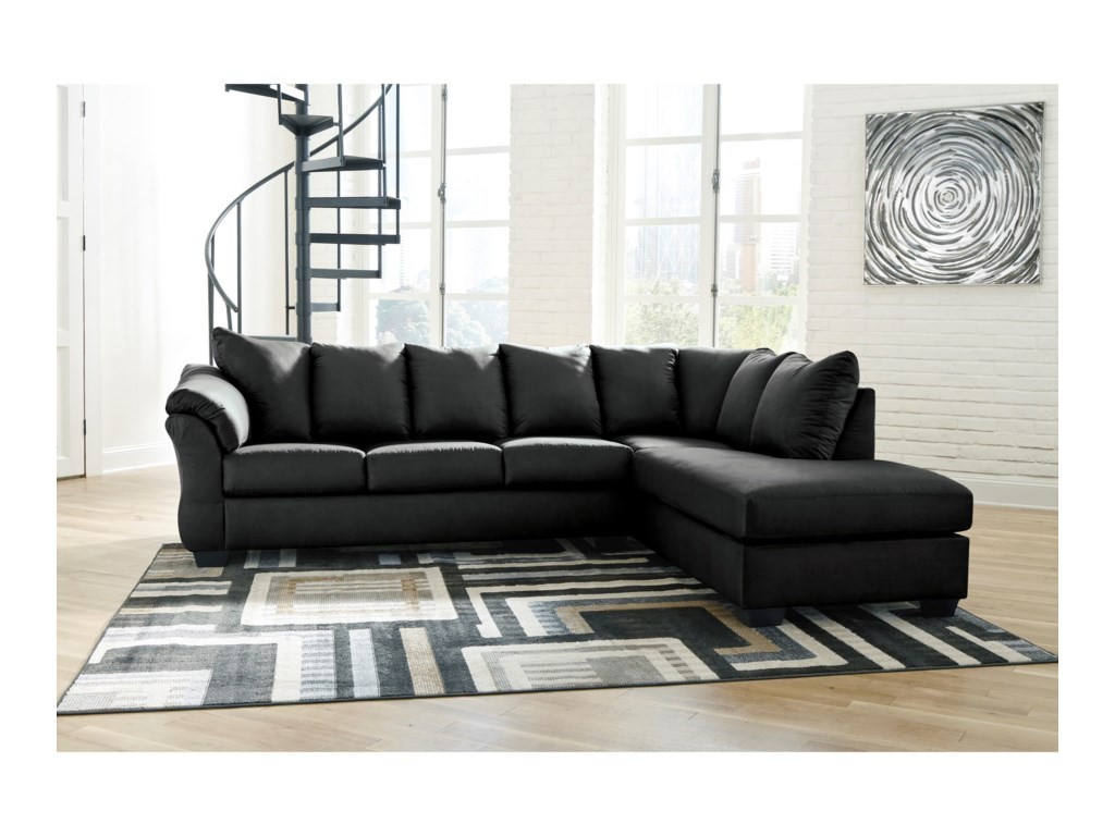 Signature Design by Ashley Darcy - BlackSectional Sofa