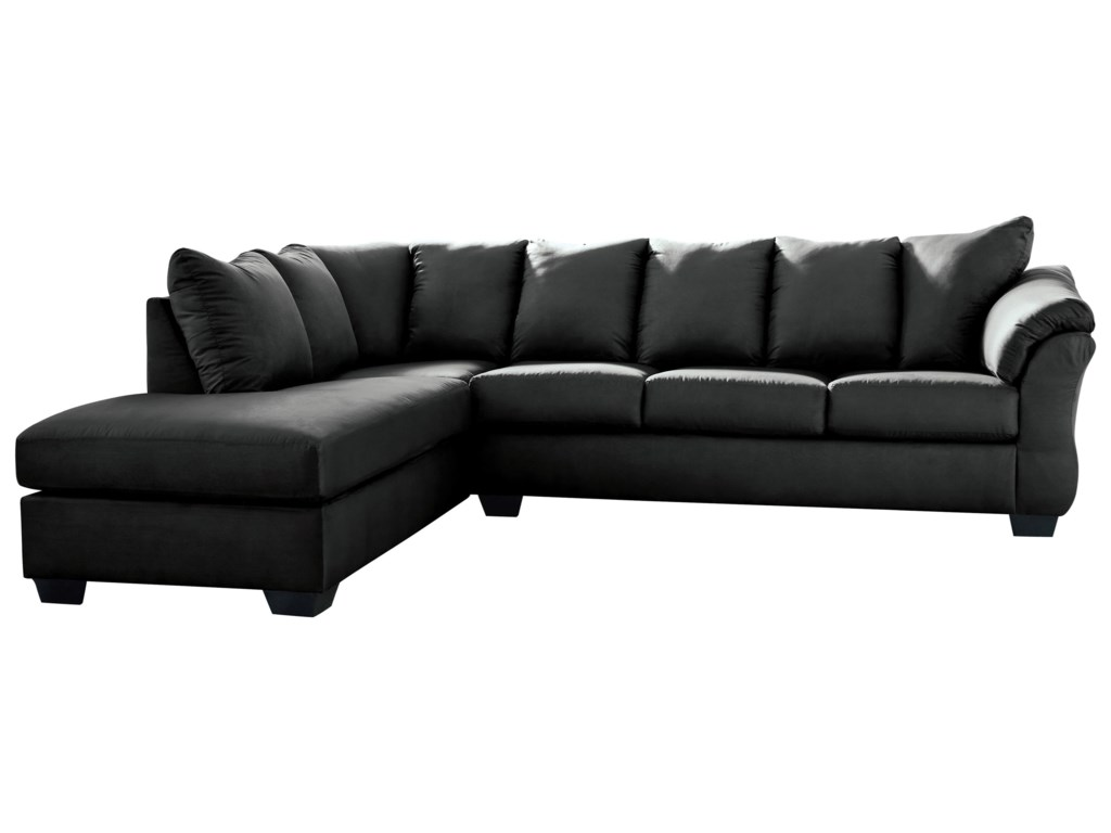Darcy - Black Contemporary 2-Piece Sectional Sofa with Left Chaise by  Signature Design by Ashley at Royal Furniture