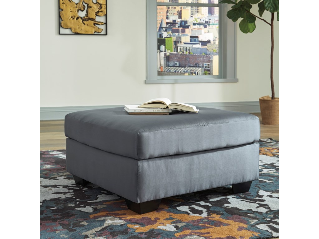 Signature Design by Ashley Darcy - SteelOversized Accent Ottoman