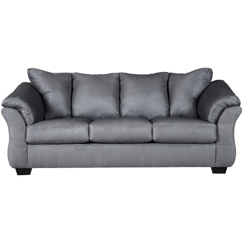 Signature Design by Ashley Darcy - Steel Contemporary Full Sleeper with Flared Back Pillows