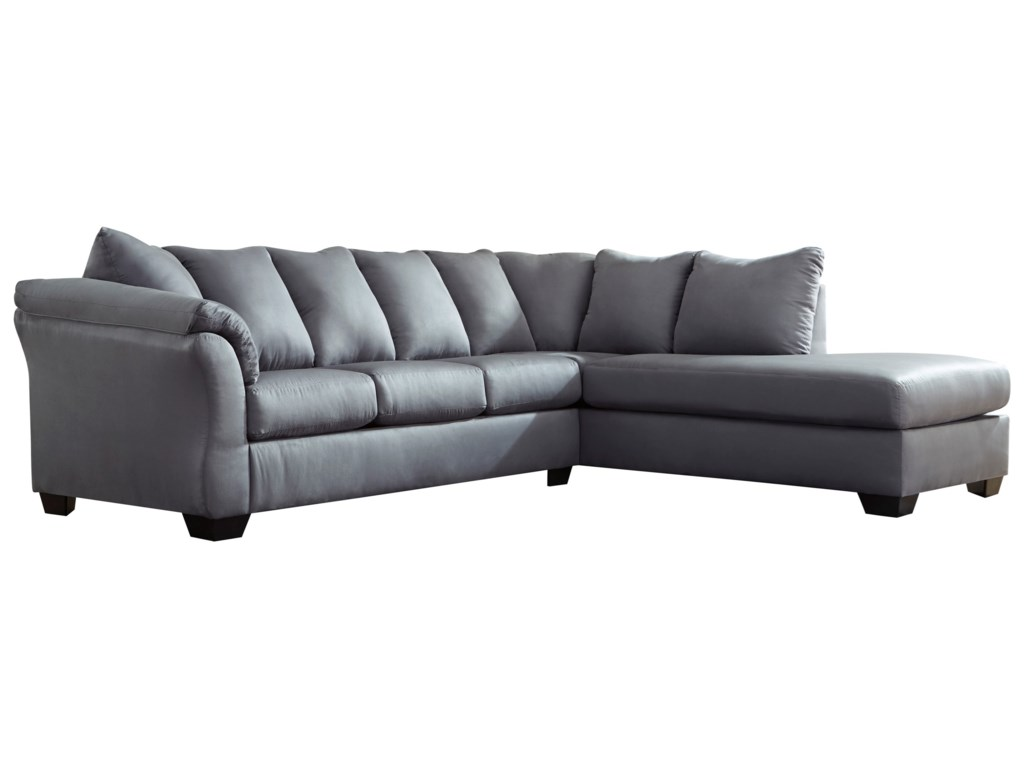 Darcy - Steel 2-Piece Sectional Sofa