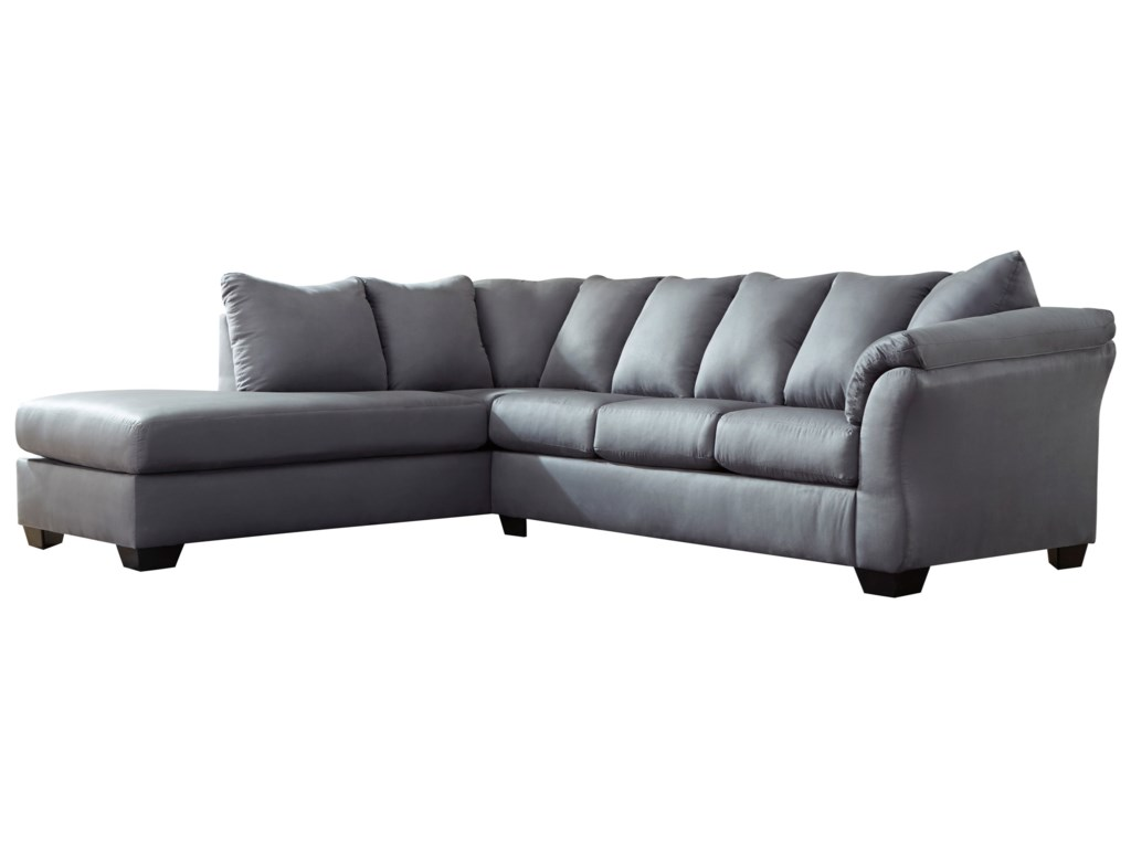 Darcy - Steel Contemporary 2-Piece Sectional Sofa with Left Chaise by  Signature Design by Ashley at Royal Furniture