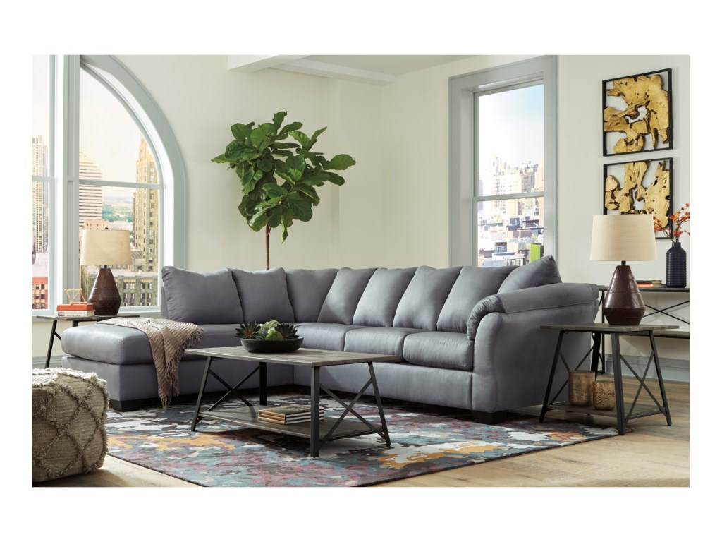 Signature Design by Ashley Darcy - SteelSectional Sofa