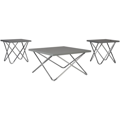 Signature Design by Ashley Dashard Contemporary Occasional Table Group