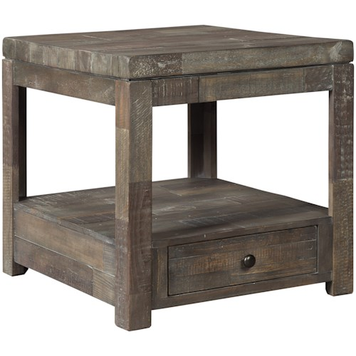 Signature Design by Ashley Daybrook Industrial Rectangular End Table