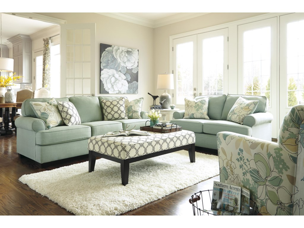 Signature Design by Ashley Daystar - SeafoamOversized Accent Ottoman