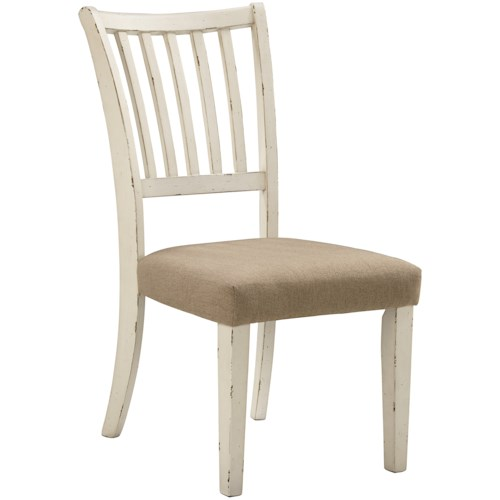 Signature Design by Ashley Dazzelston Dining Side Chair with Slat Backrest