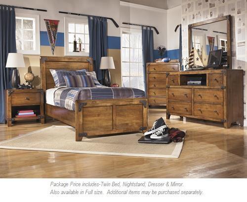 Signature Design By Ashley Delburne 4 PC Twin Bedroom