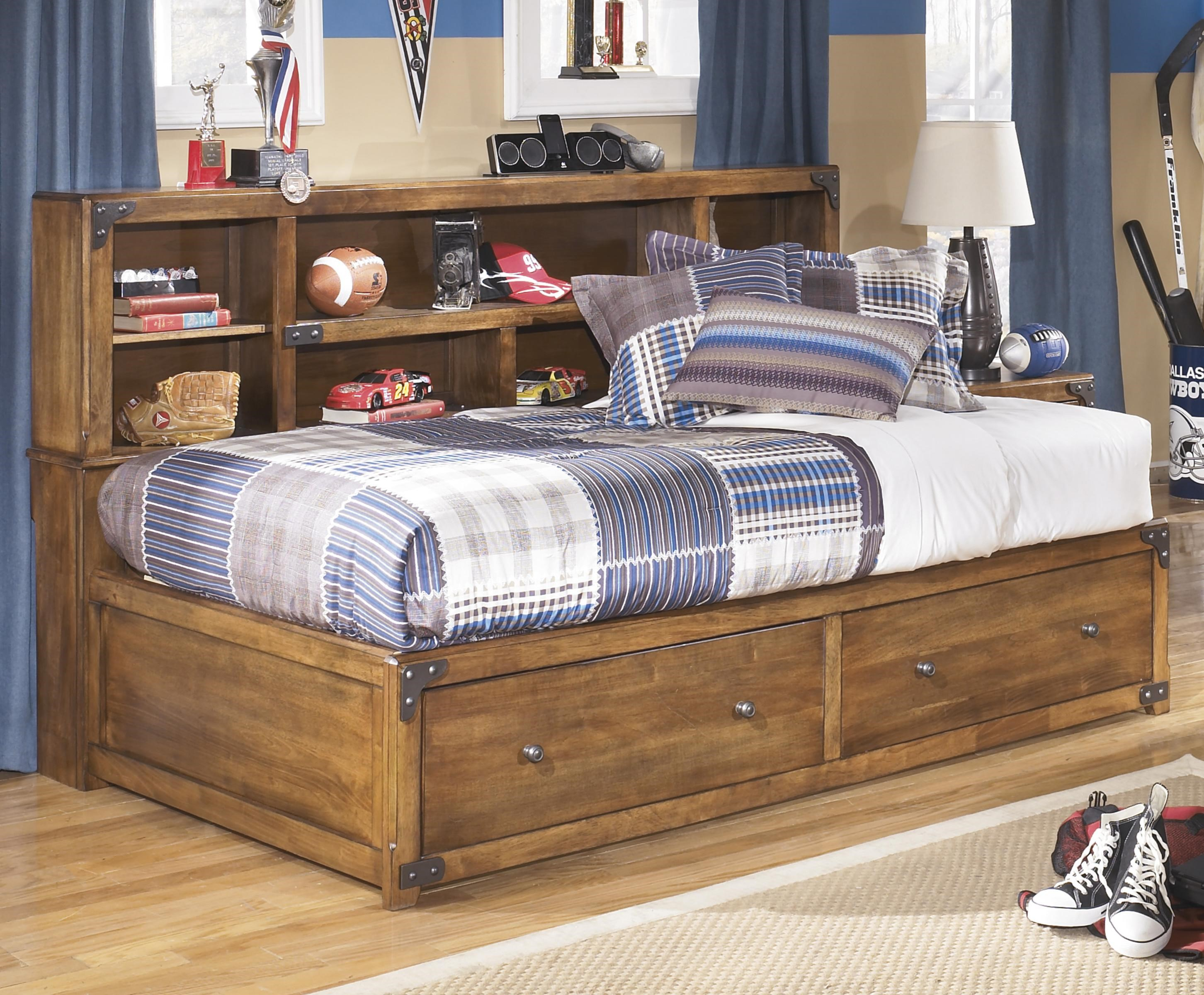 Delburne Twin Bookcase Bed With Footboard Storage By Signature Design By Ashley At Lapeer Furniture Mattress Center