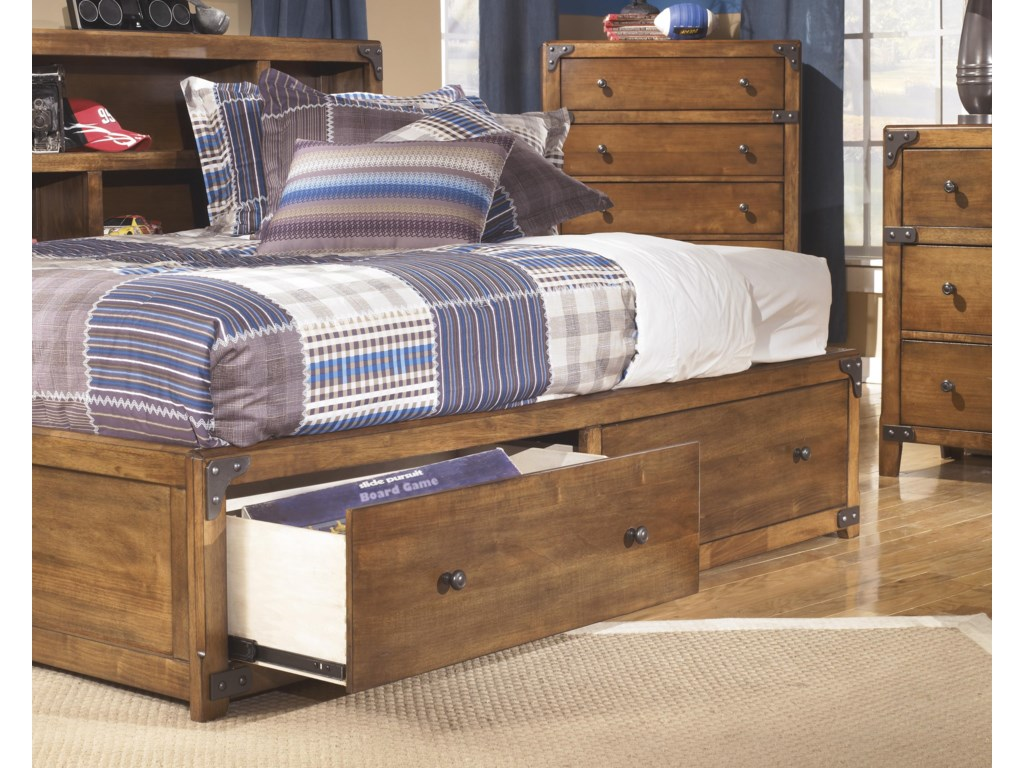 Signature Design by Ashley DelburneTwin Bookcase Bed with Footboard Storage