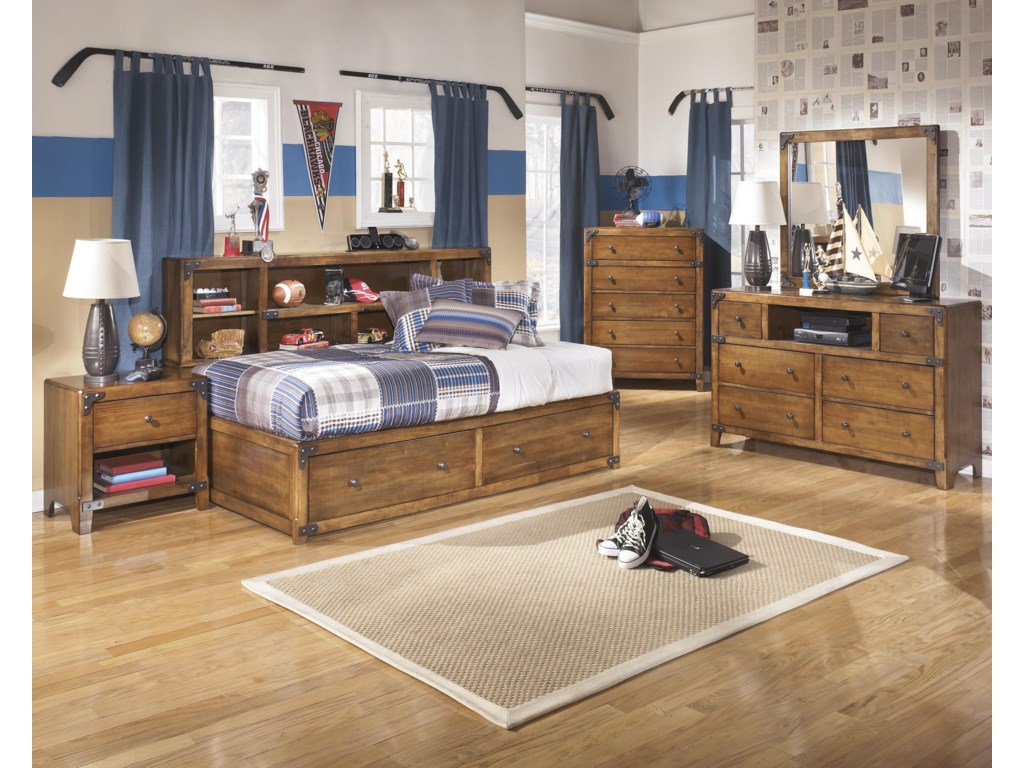 Signature Design by Ashley DelburneFull Bookcase Bed with Footboard Storage